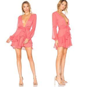 Tarta Long Sleeve Mini Dress in Flamingo